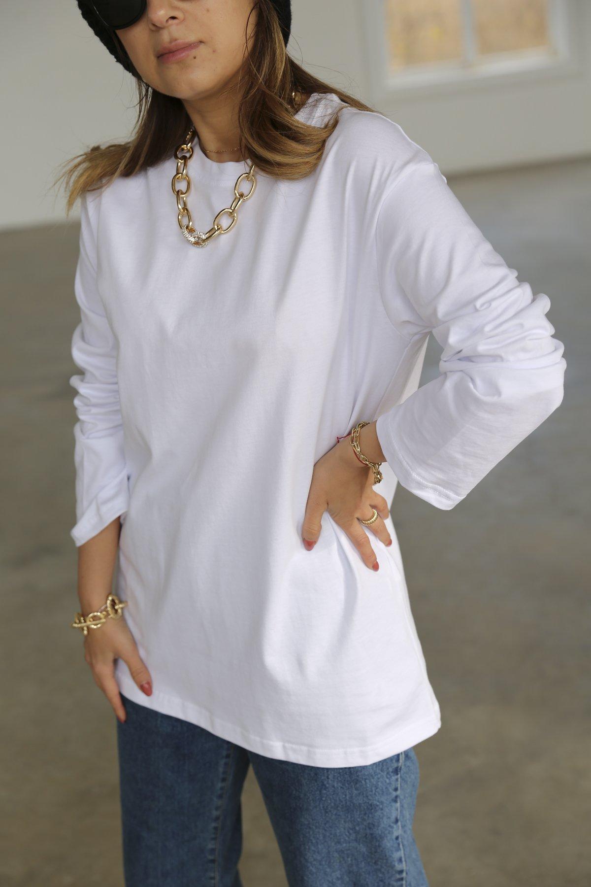 Uzun Kollu Oversize Tshirt Pynp