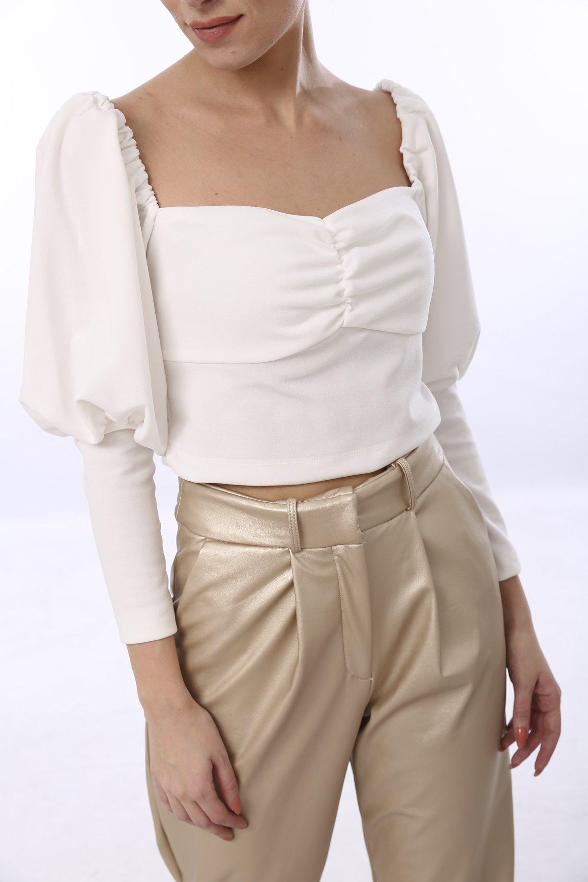 Madonna Yaka Crop Bluz