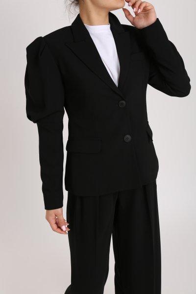 Kol Detay İki Düğmeli Ceket