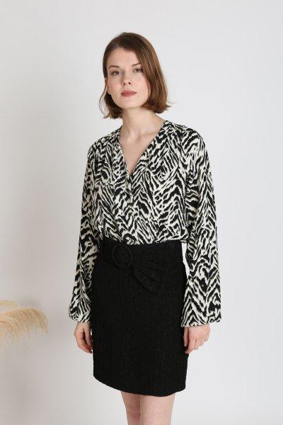 Zebra Desen Bodysuit