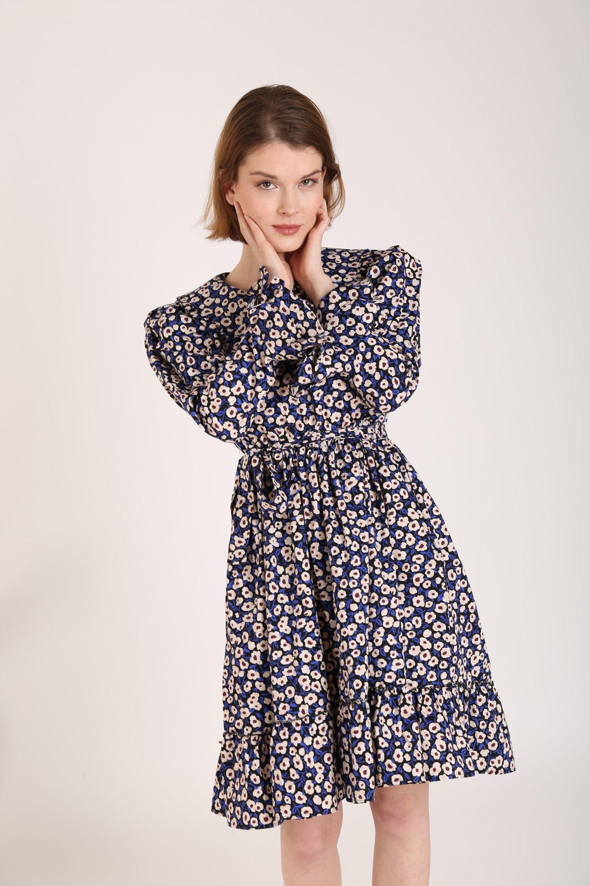 Bebe Yaka Papatya Desen Elbise