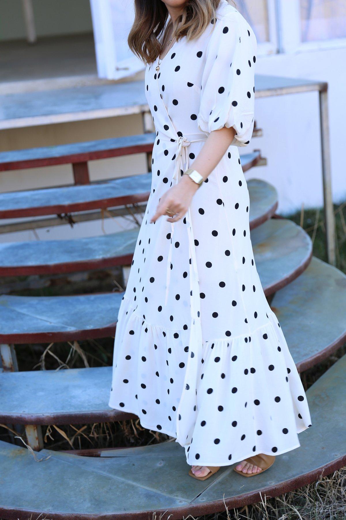 Puantiyeli Tasarım Elbise