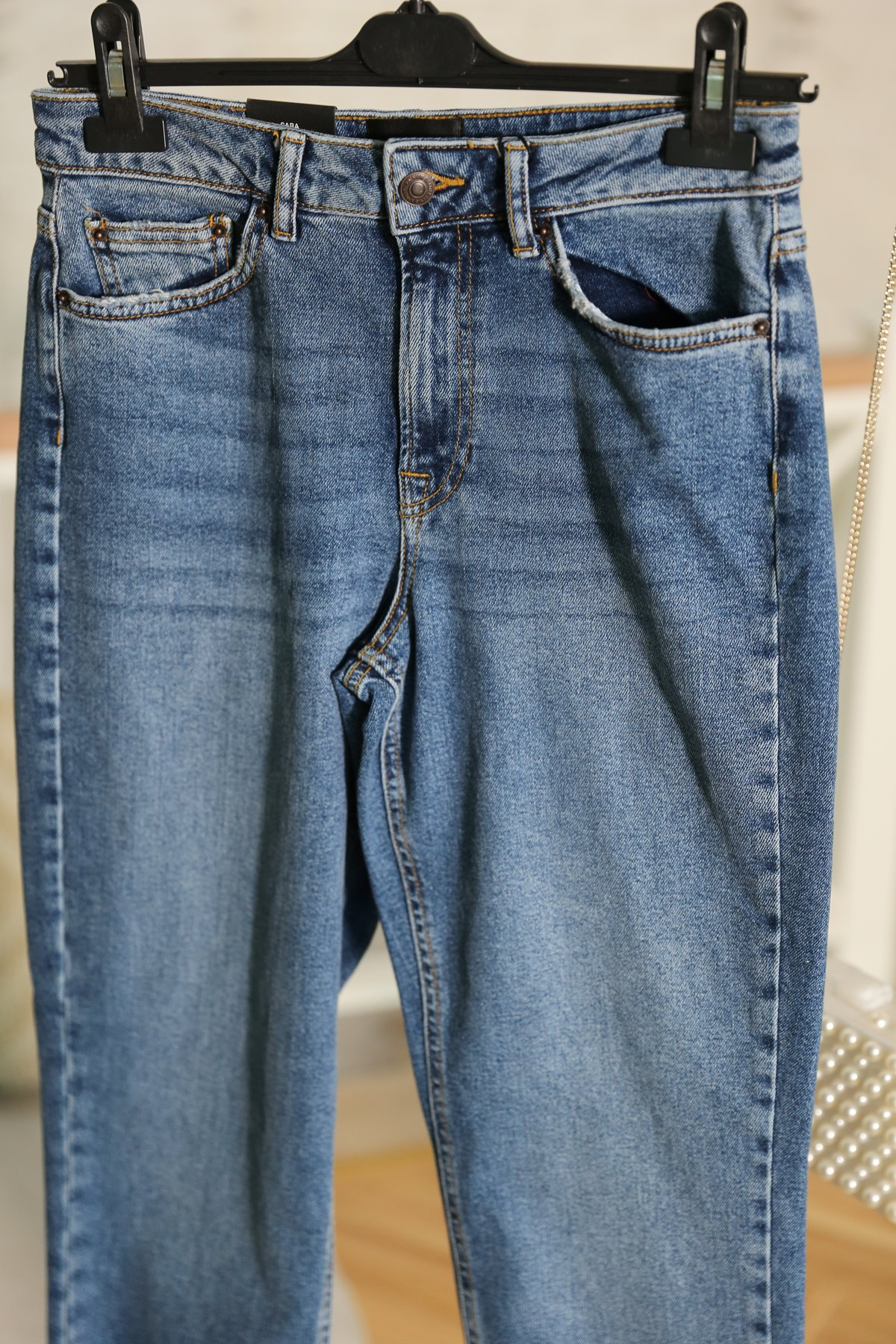 Mavi Yüksek Bel Klasik Jean