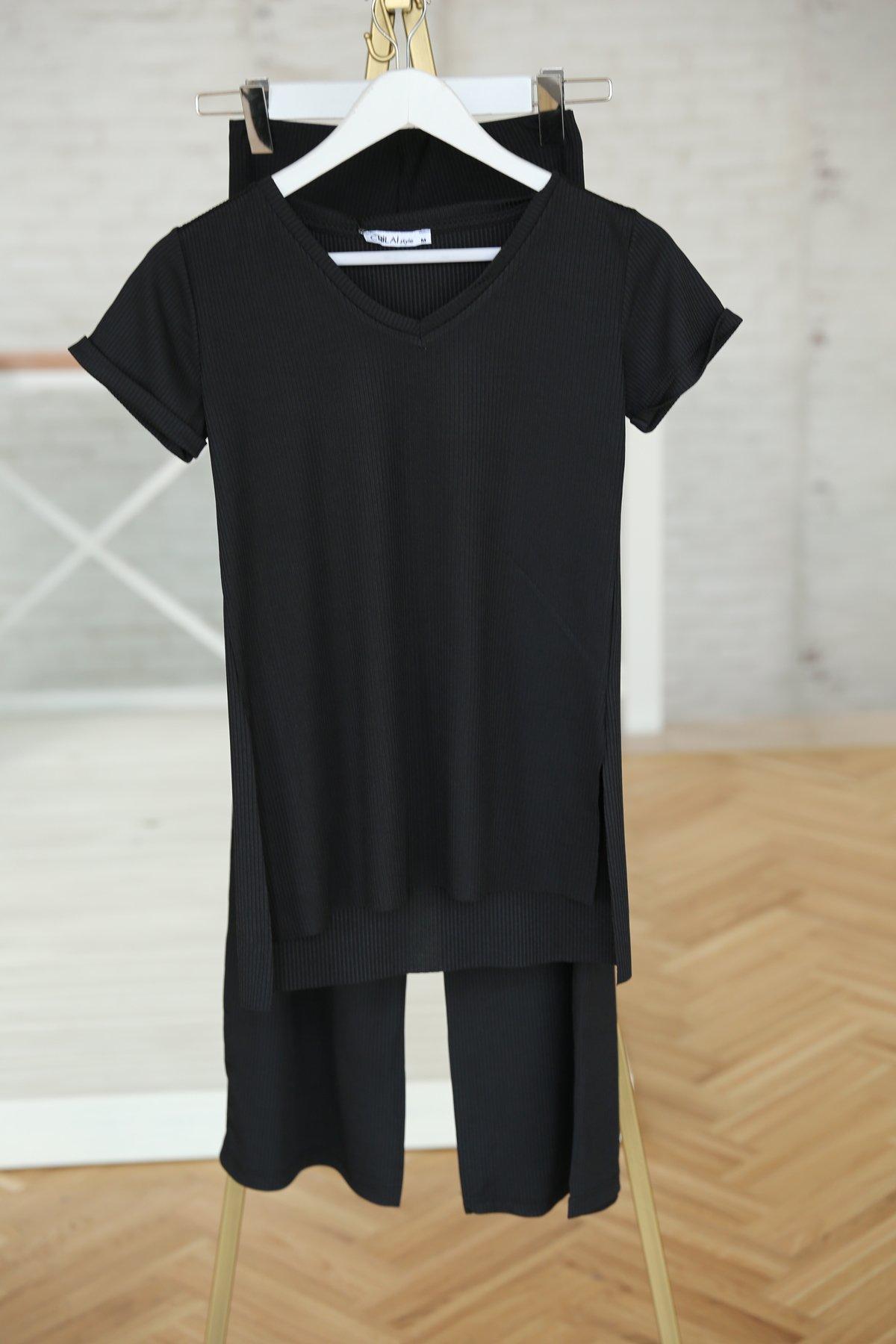 Fitilli Tişört Pantolon Takım