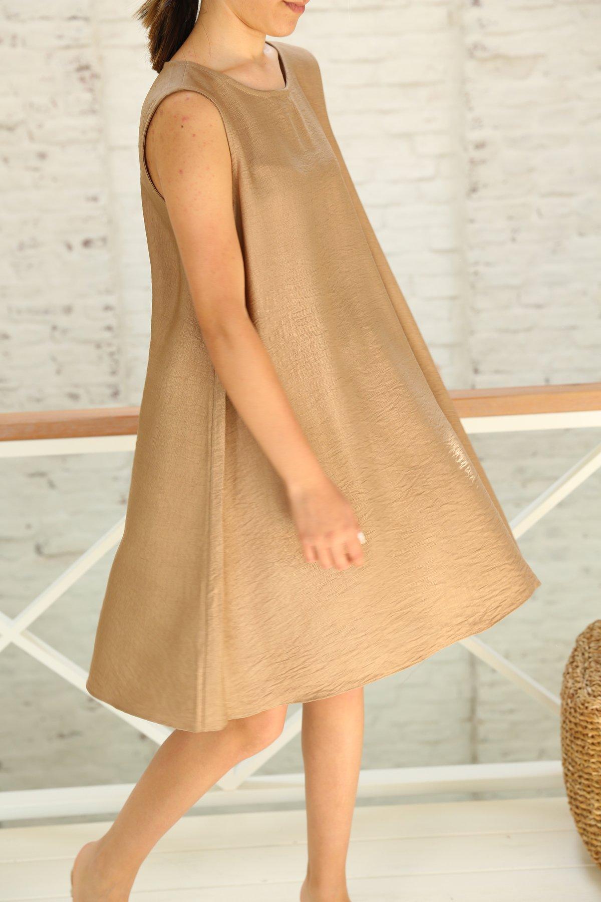 Kolsuz Çan Kesim Elbise