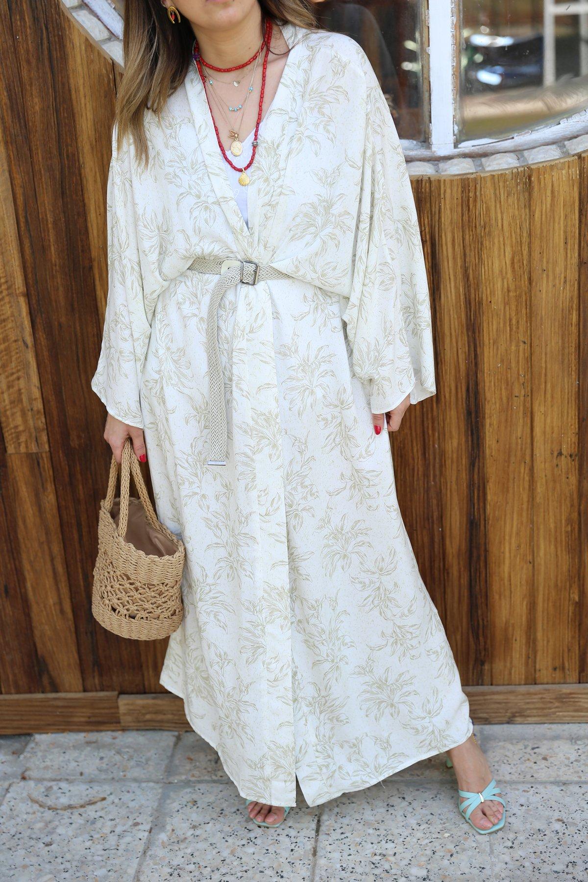 Yaprak Desenli Kimono