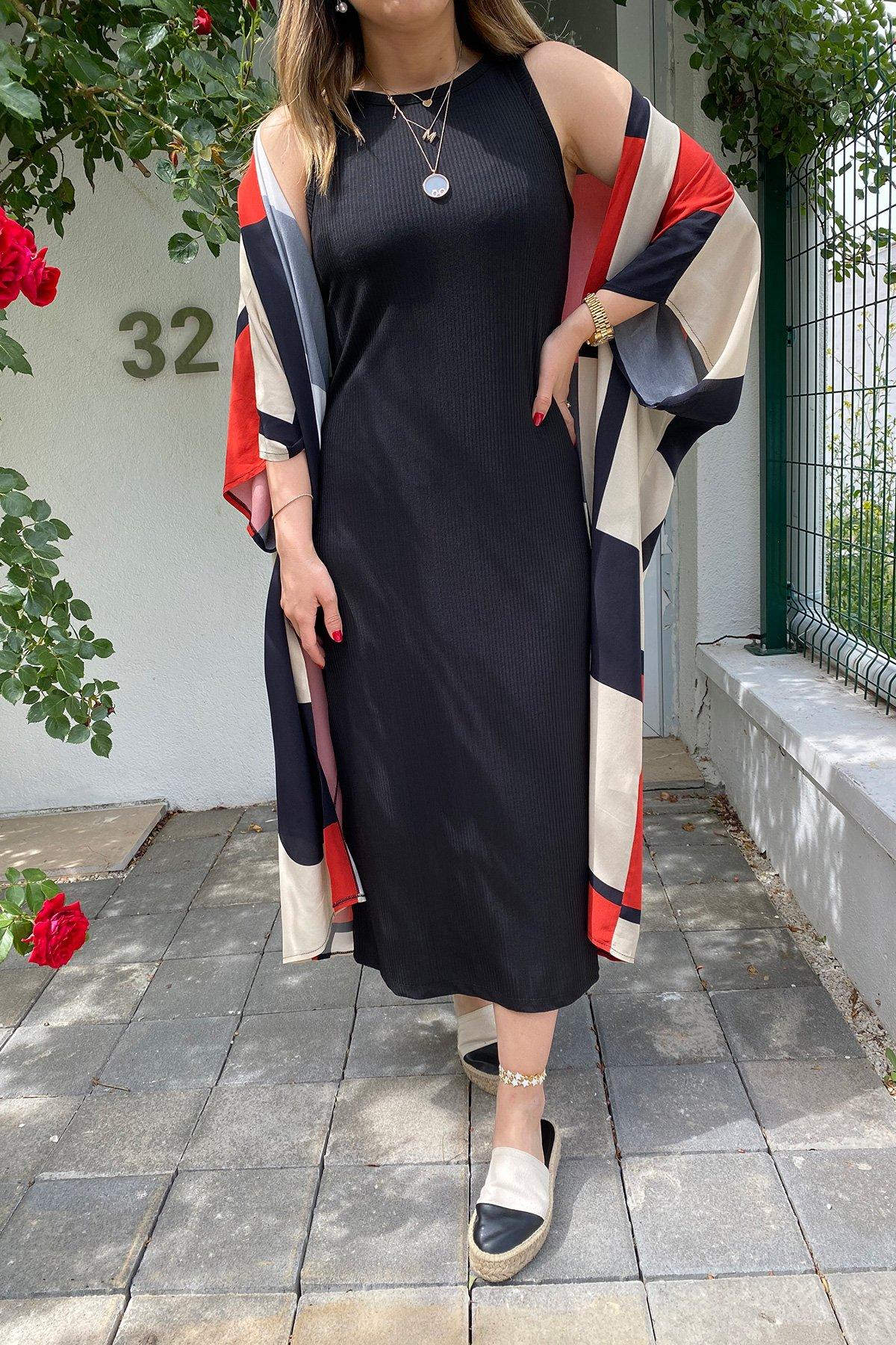 Kolsuz Fitilli Uzun Elbise