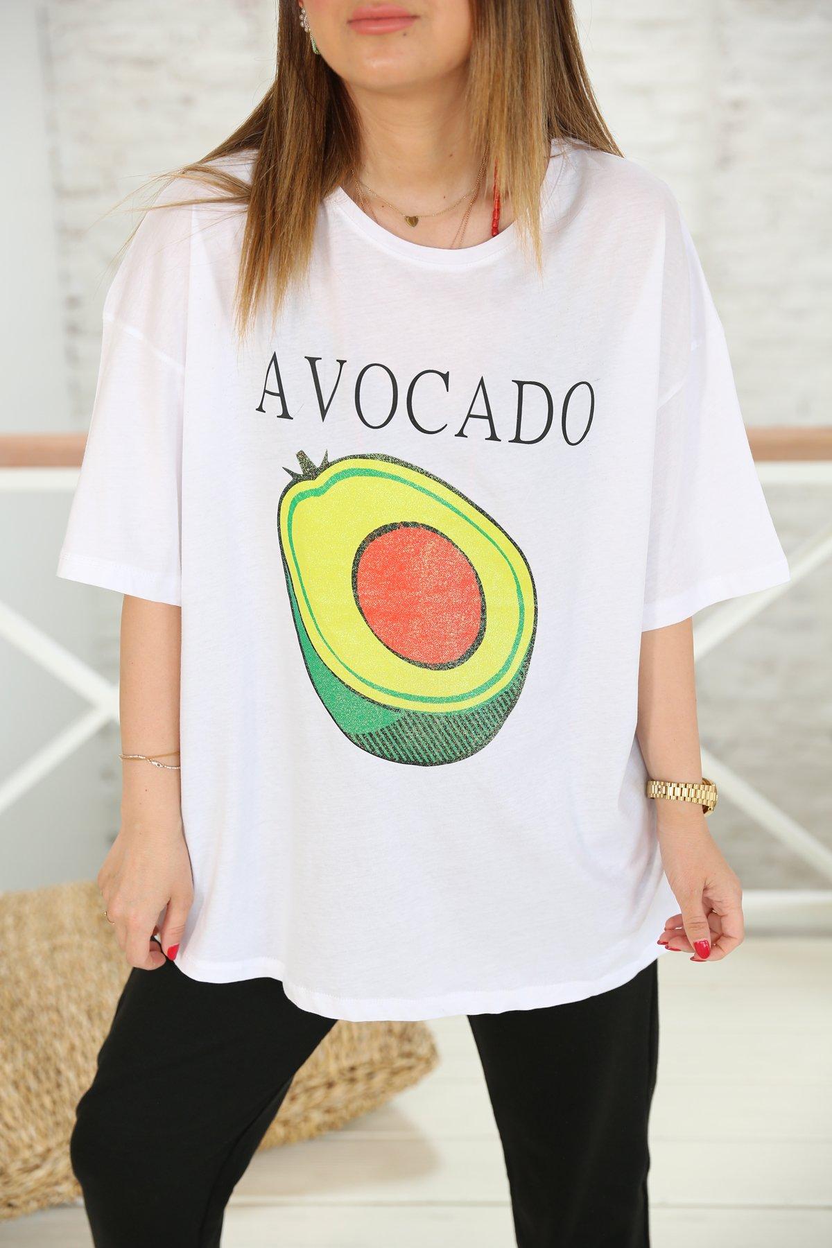 Avakado Baskılı Tişört