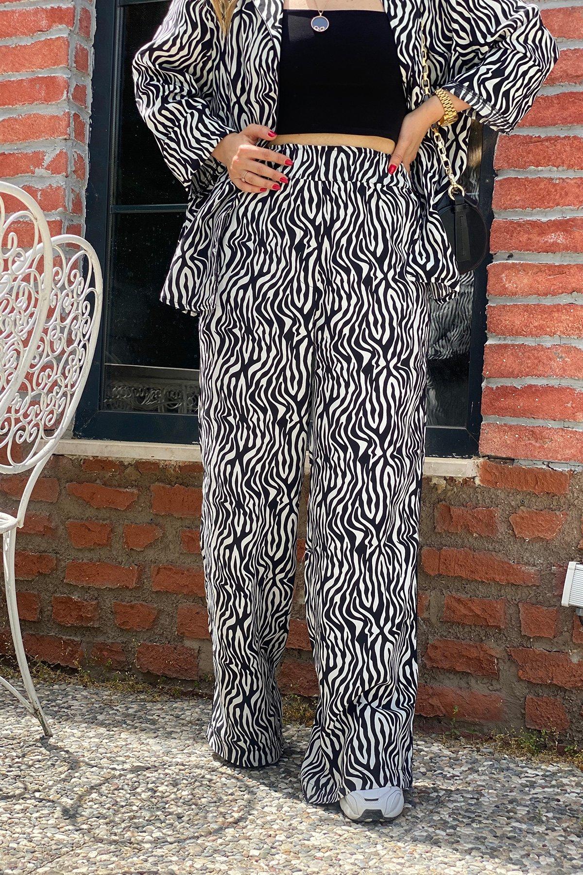 Zebra Desen Pijama Takımı