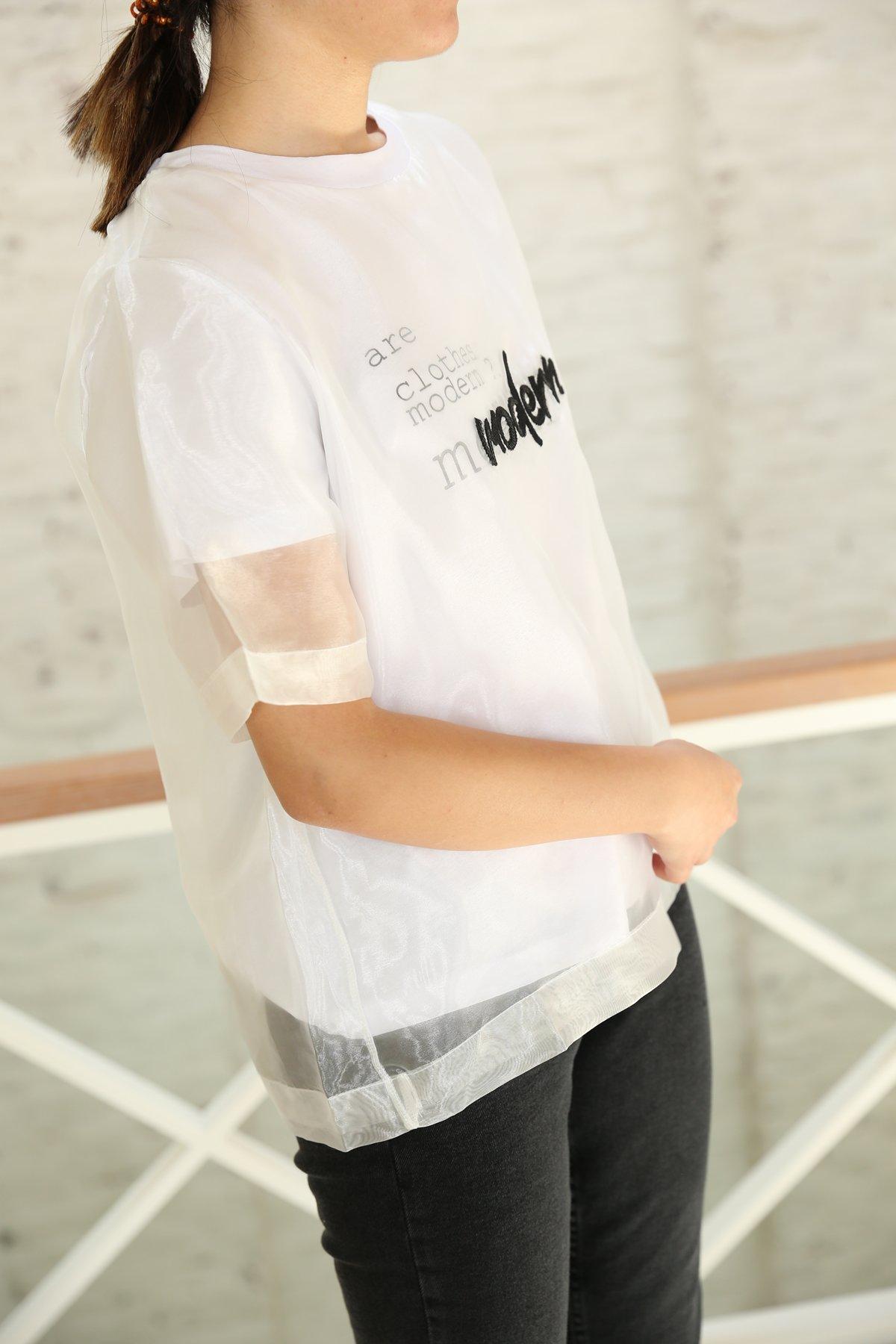 Modern Baskılı Tişört