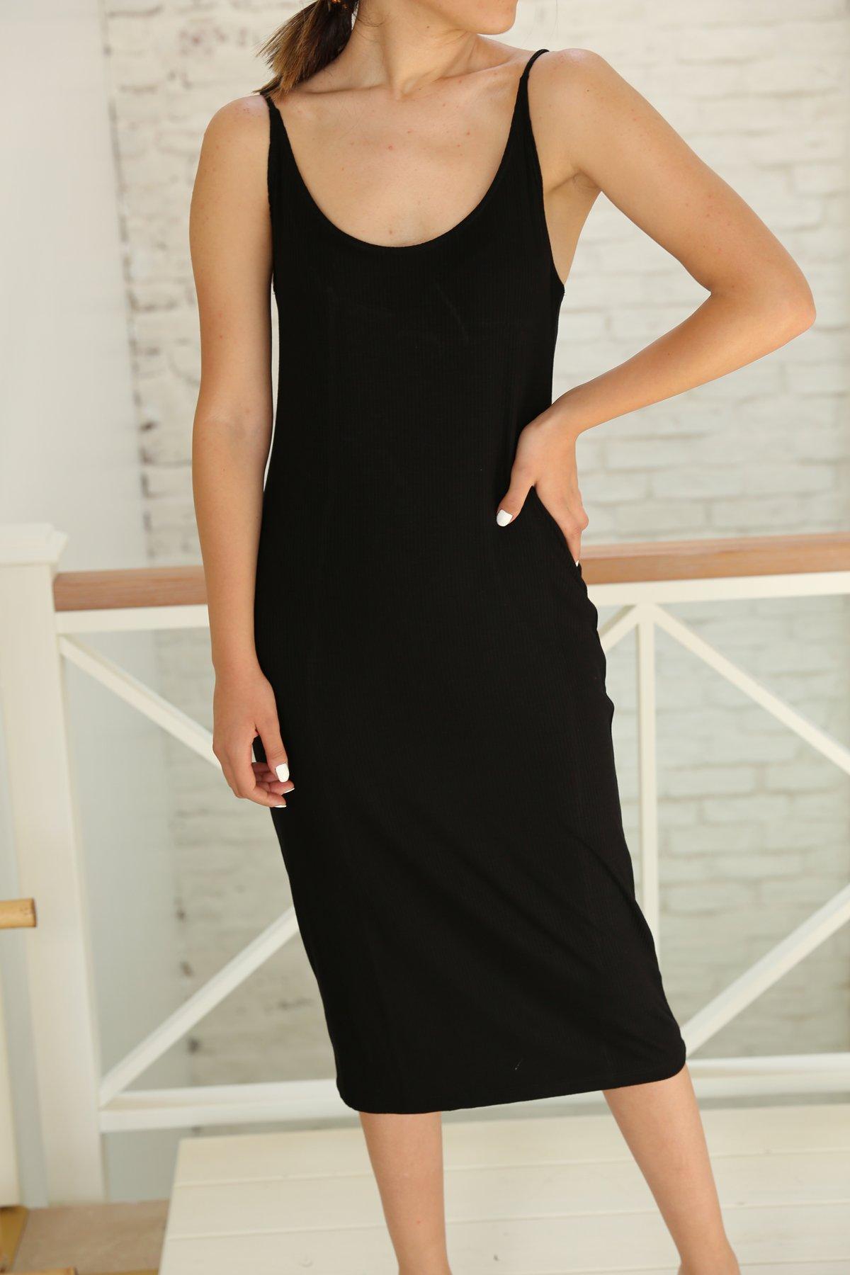 İp Askılı Fitilli Elbise