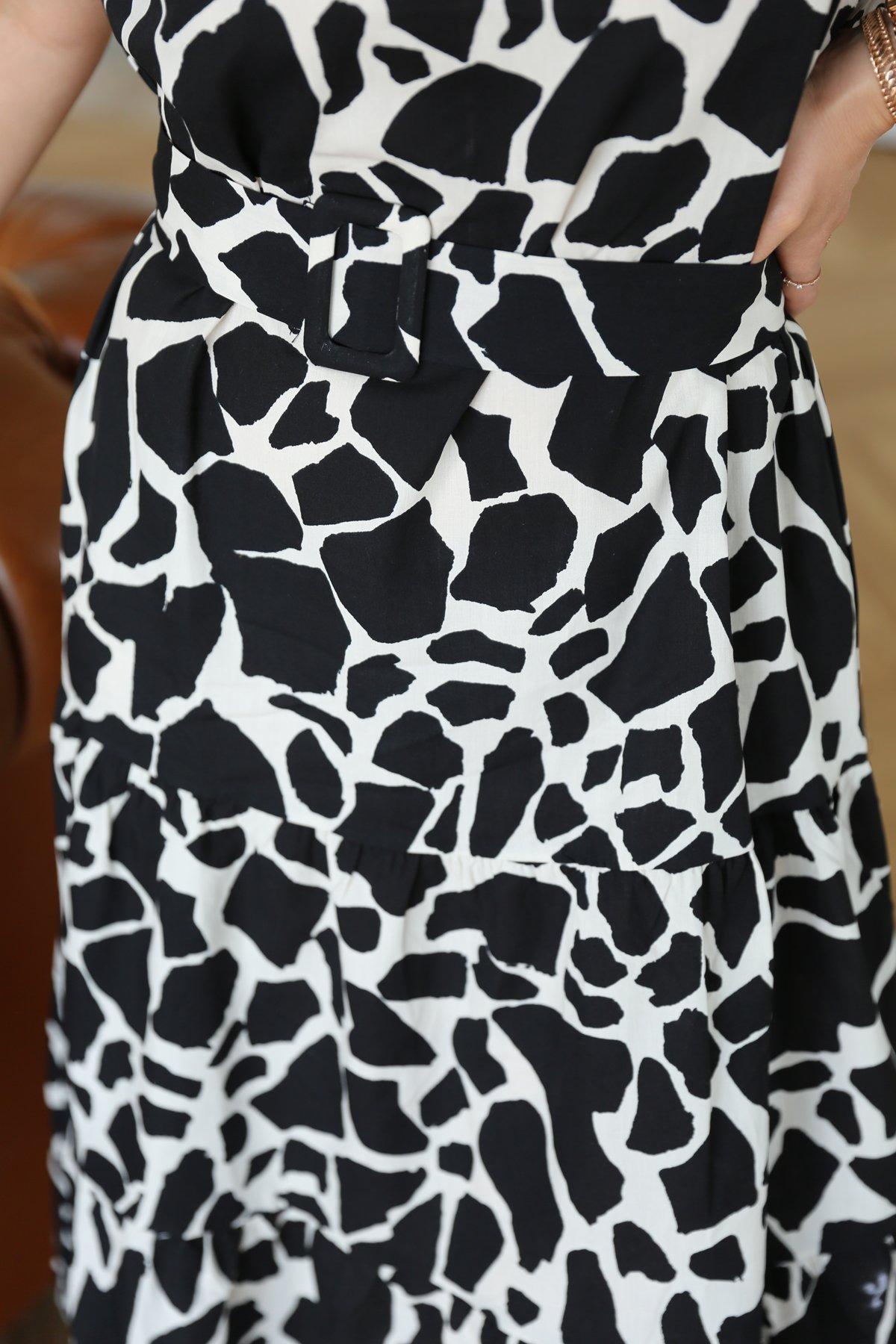 Kemerli Altı Poplin Elbise
