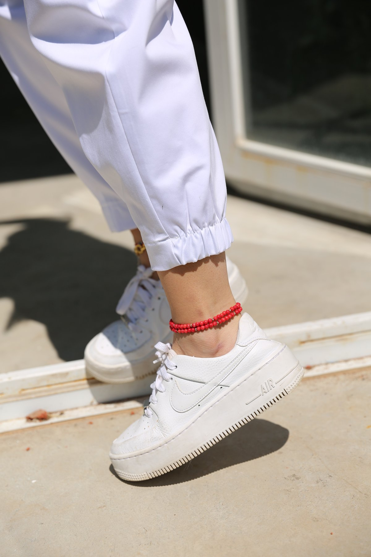 Paçası Lastikli Pileli Rahat Pantolon