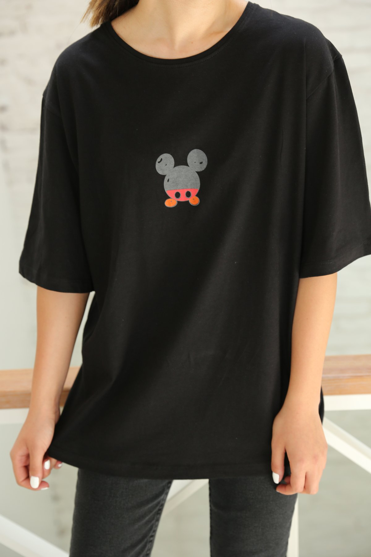 Mickey Mouse Baskılı Tişört