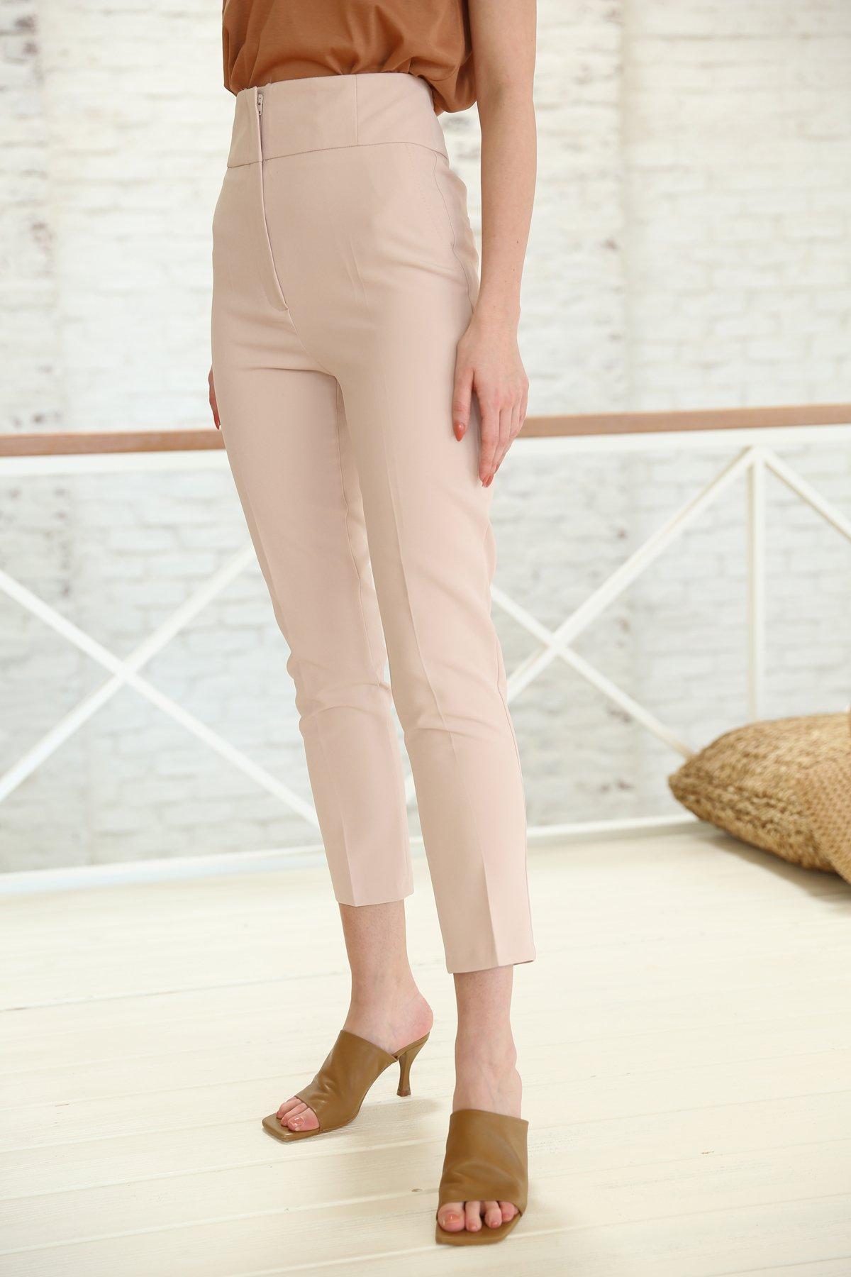 Dar Paça Yüksek Bel Klasik Pantolon