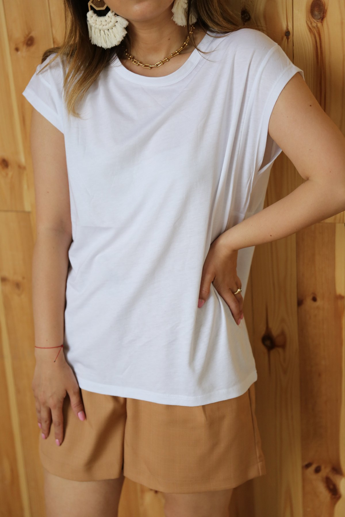 Kol Yanı Dikişli Basic Tişört