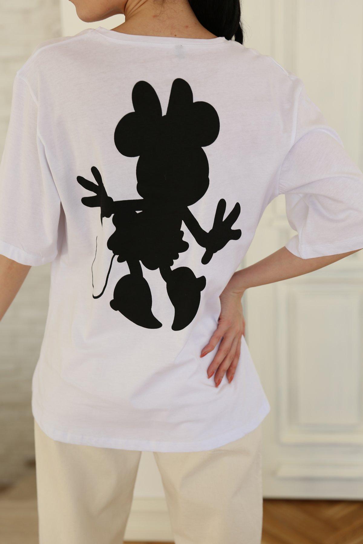 Minnie Mause Baskılı Tişört