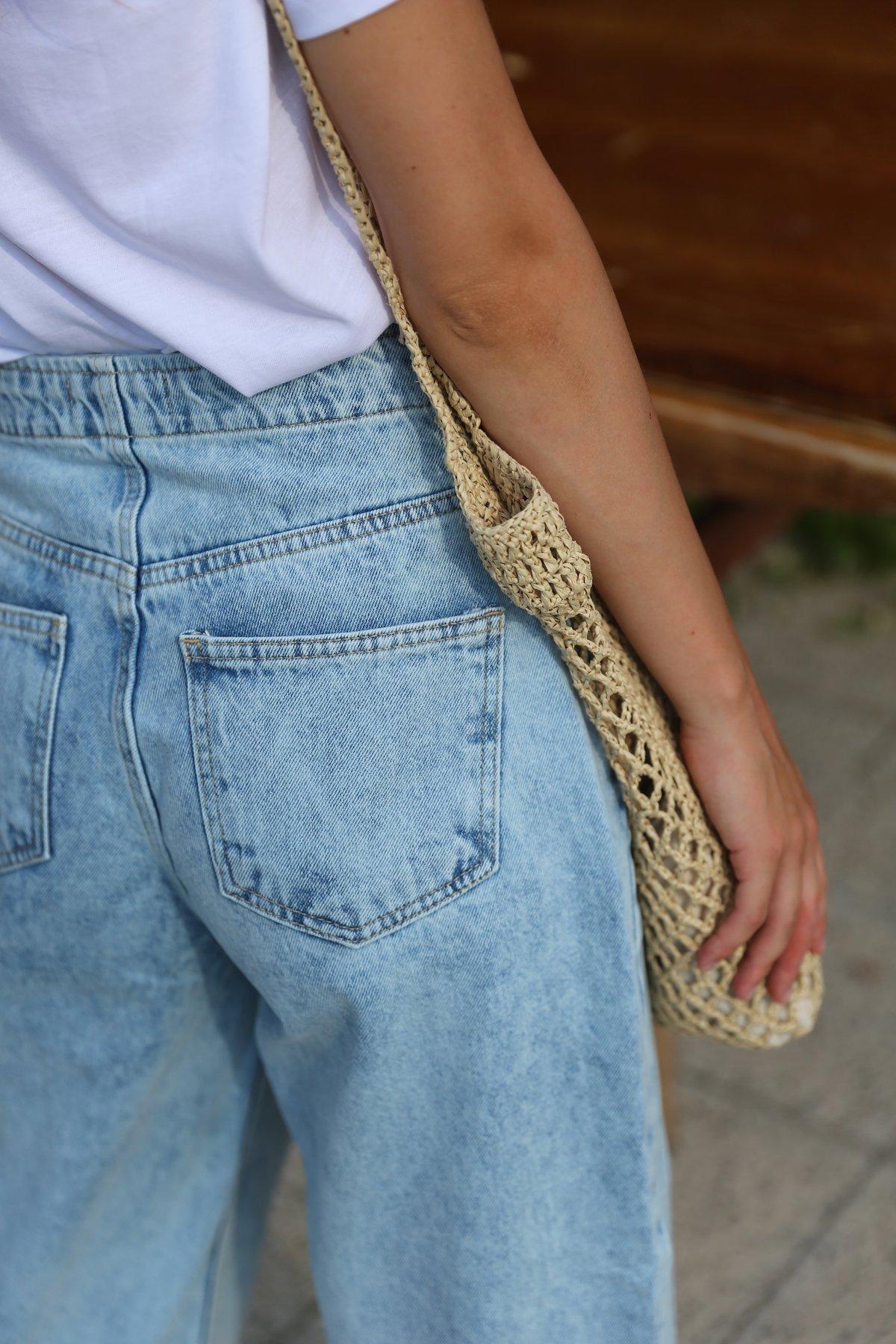 Yanları Parçalı Jean