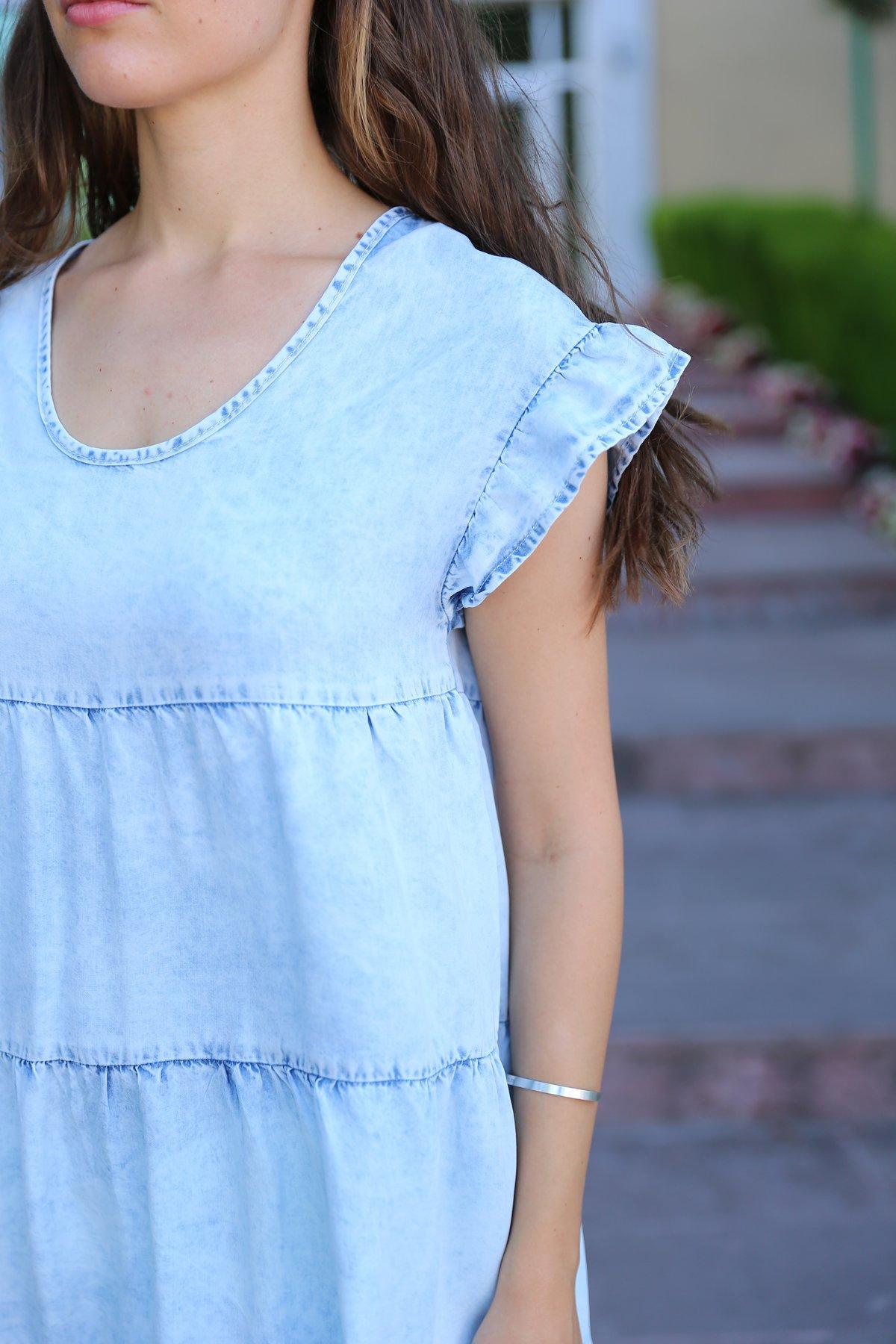 Tensel Kumaş Elbise