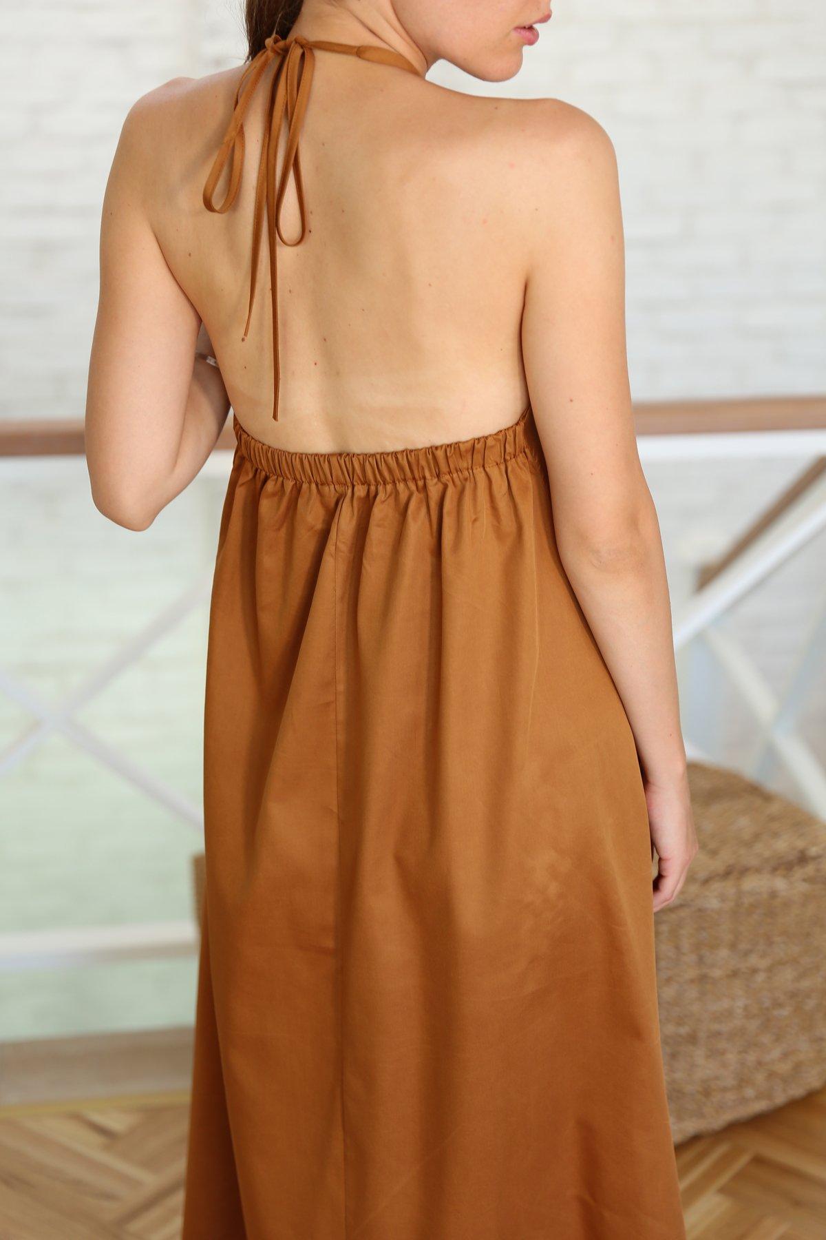 Boyundan Bağlamalı Tensel Elbise