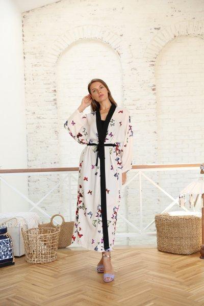 Kelebek Desenli Kimono