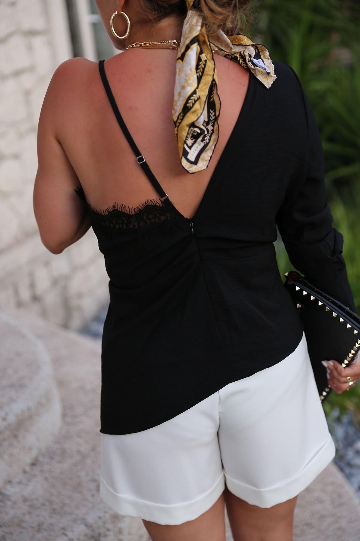 Dantel Detay Tasarım Bluz