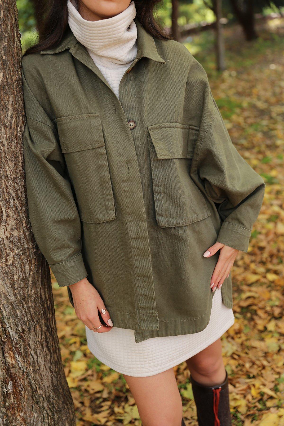 Büyük Cepli Oversize Ceket