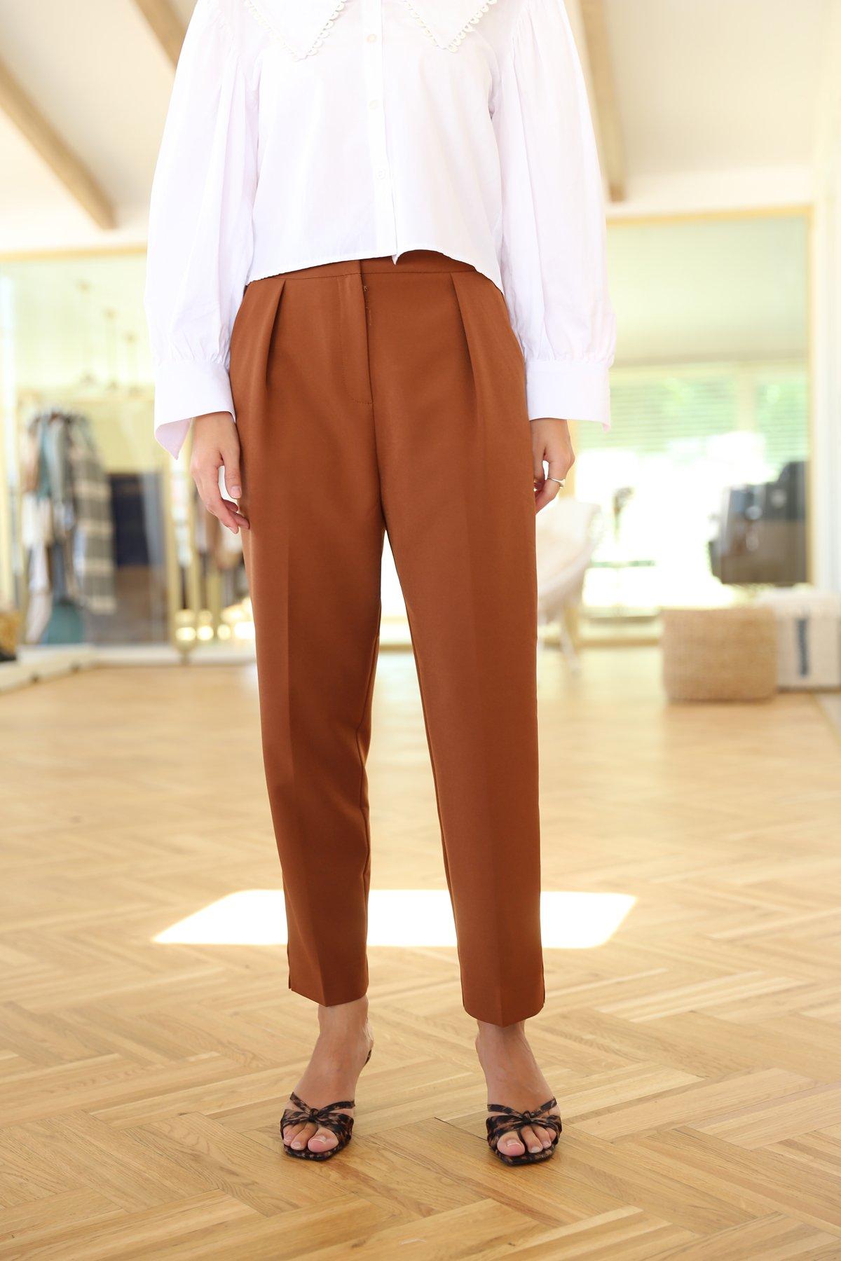 Tok Kumaş Havuç Pantolon