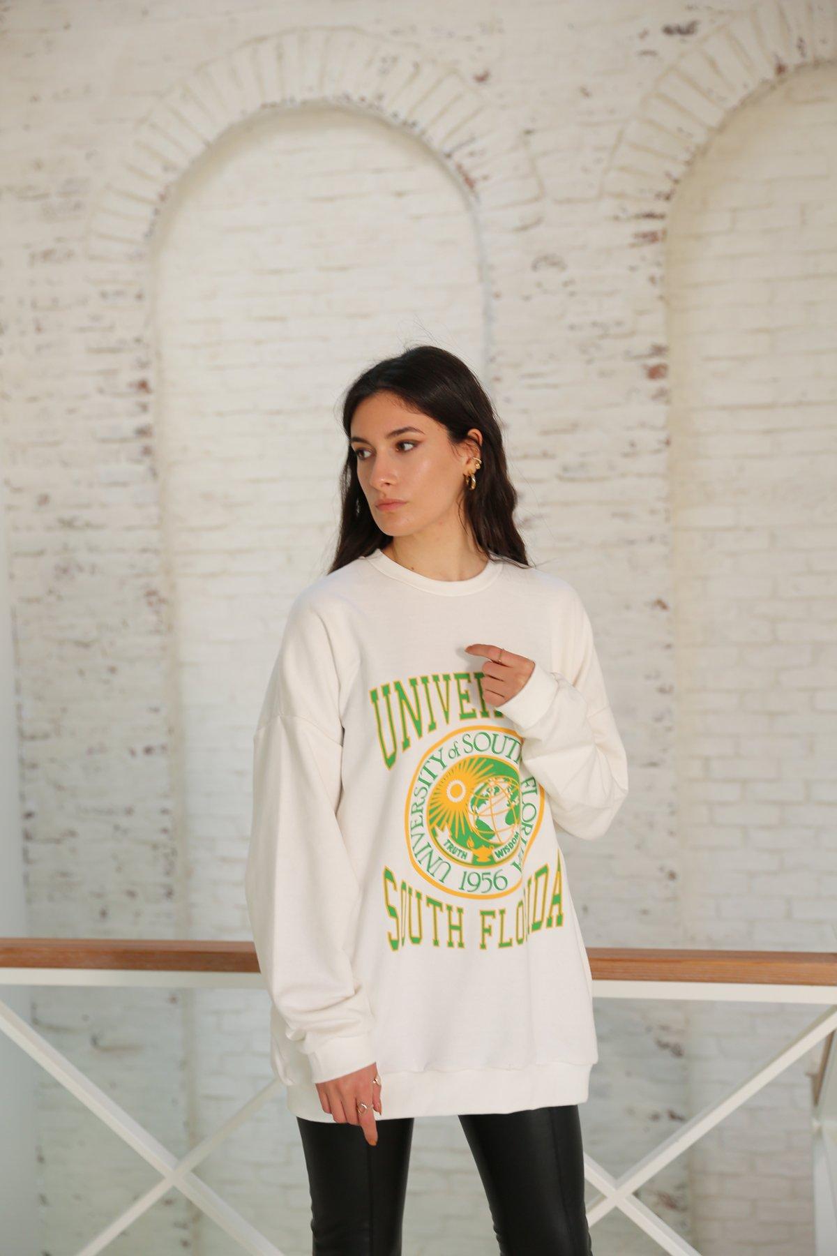 University Baskılı Sweatshirt