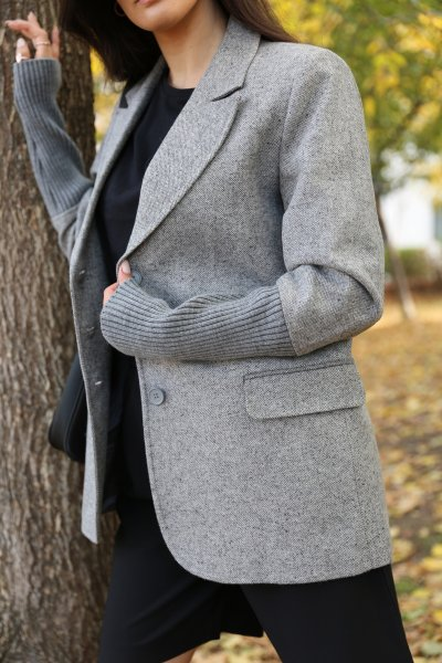 Kemer Detay Üç Düğme Ceket