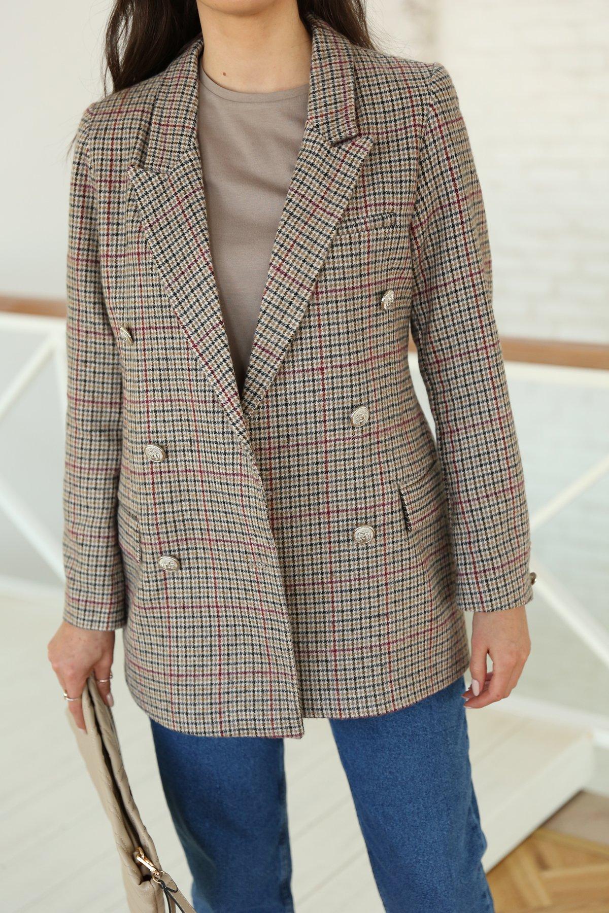 Kazayağı Desenli Ceket