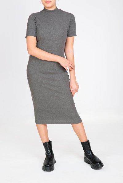 Kısa Kollu Kendinden Fitilli Elbise