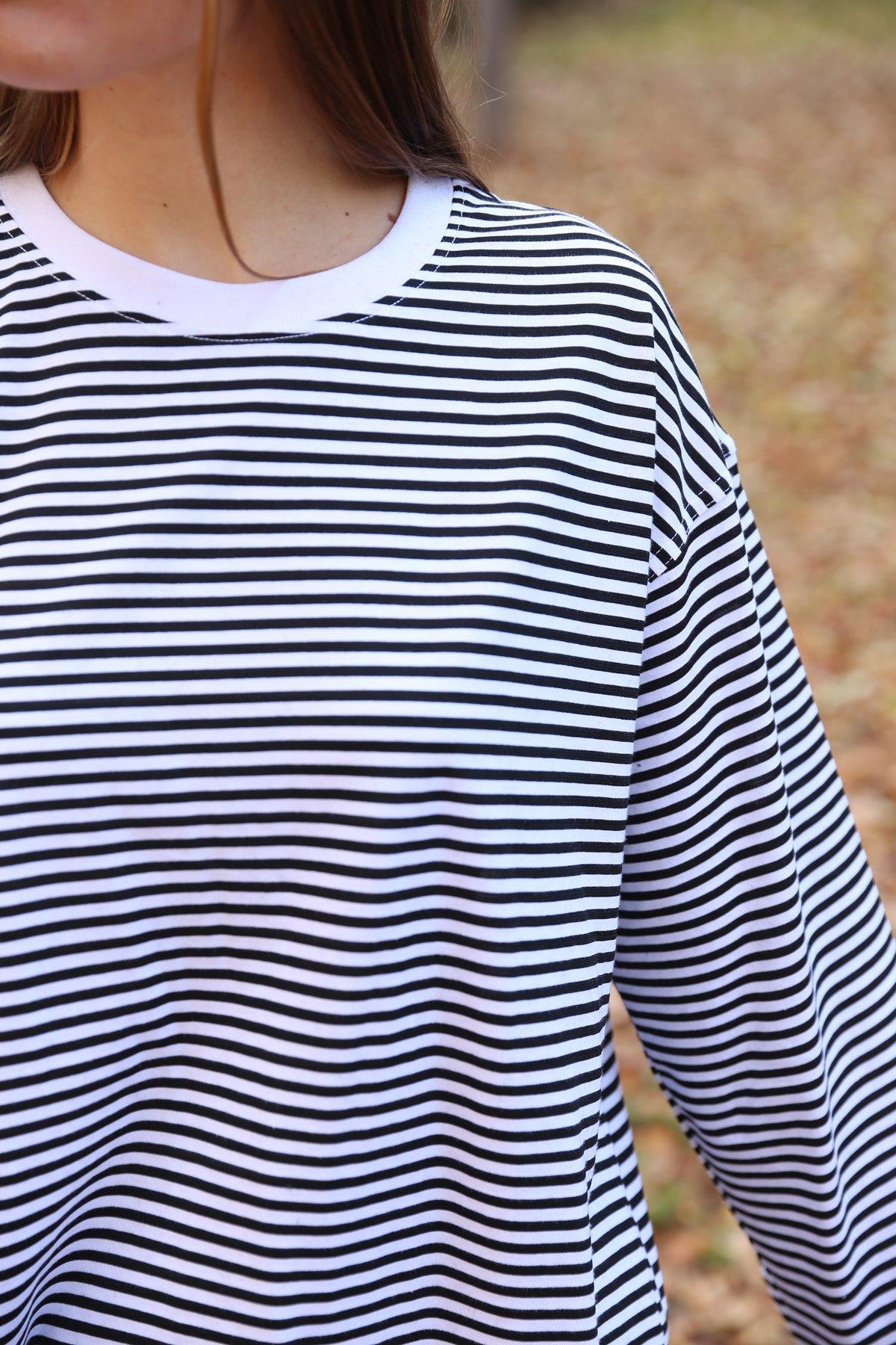 Çizgili Uzun Kollu Tişört
