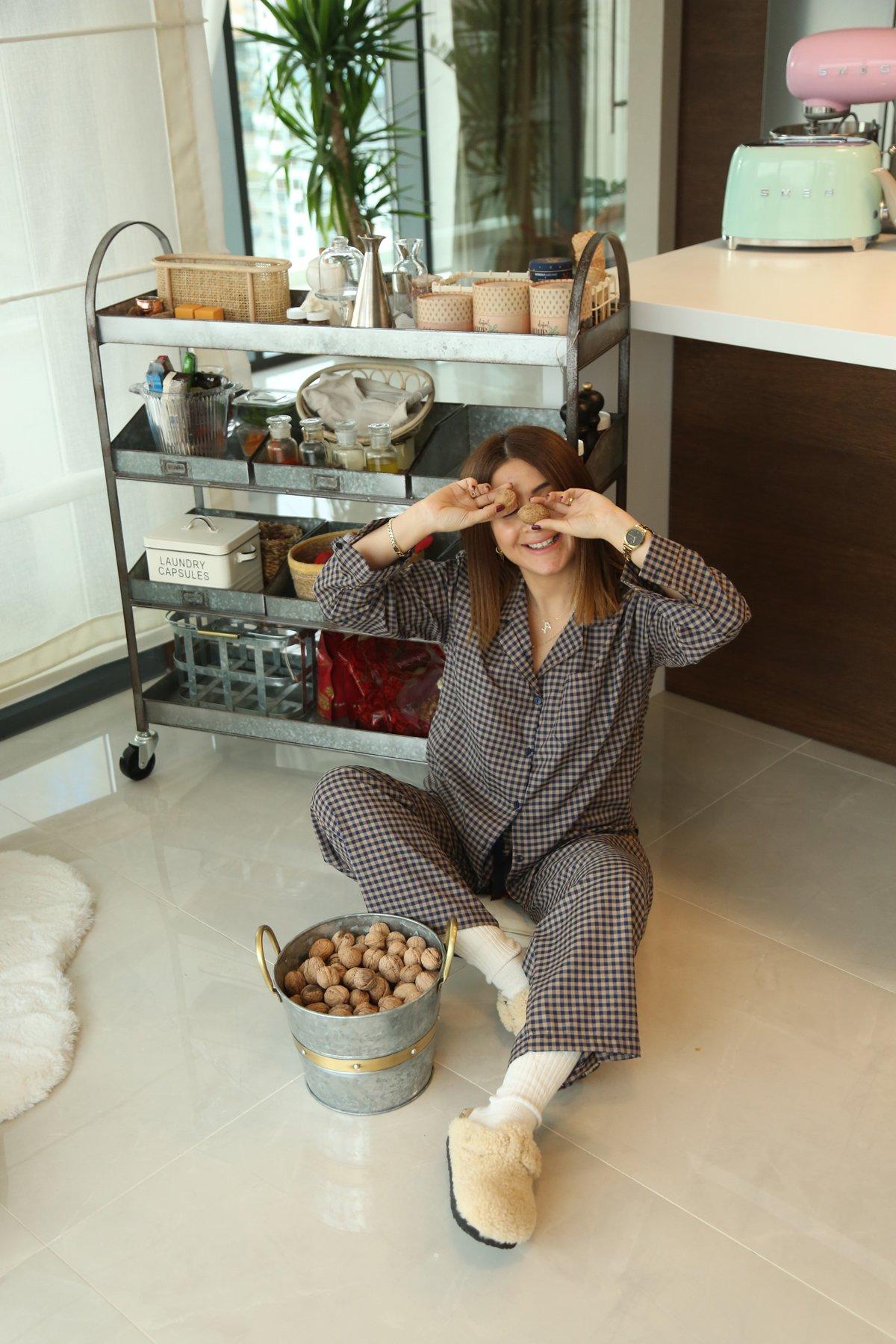 Ekoseli Pijama Takımı