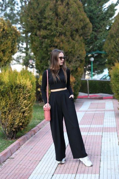 Crop Bluz Bol Paça Pantolon Takım