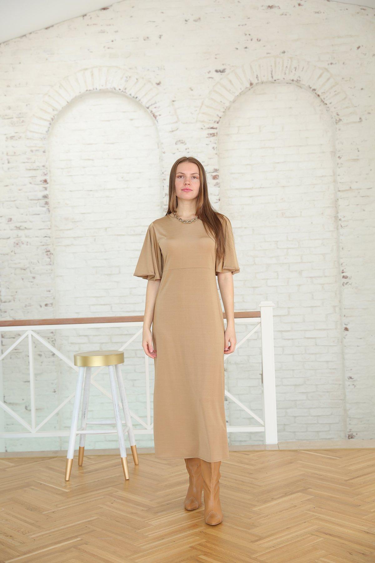 Önü Dikişli Uzun Elbise