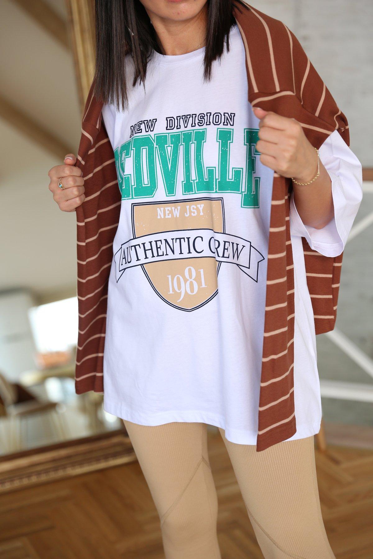 Redville Baskılı Oversize Tshirt