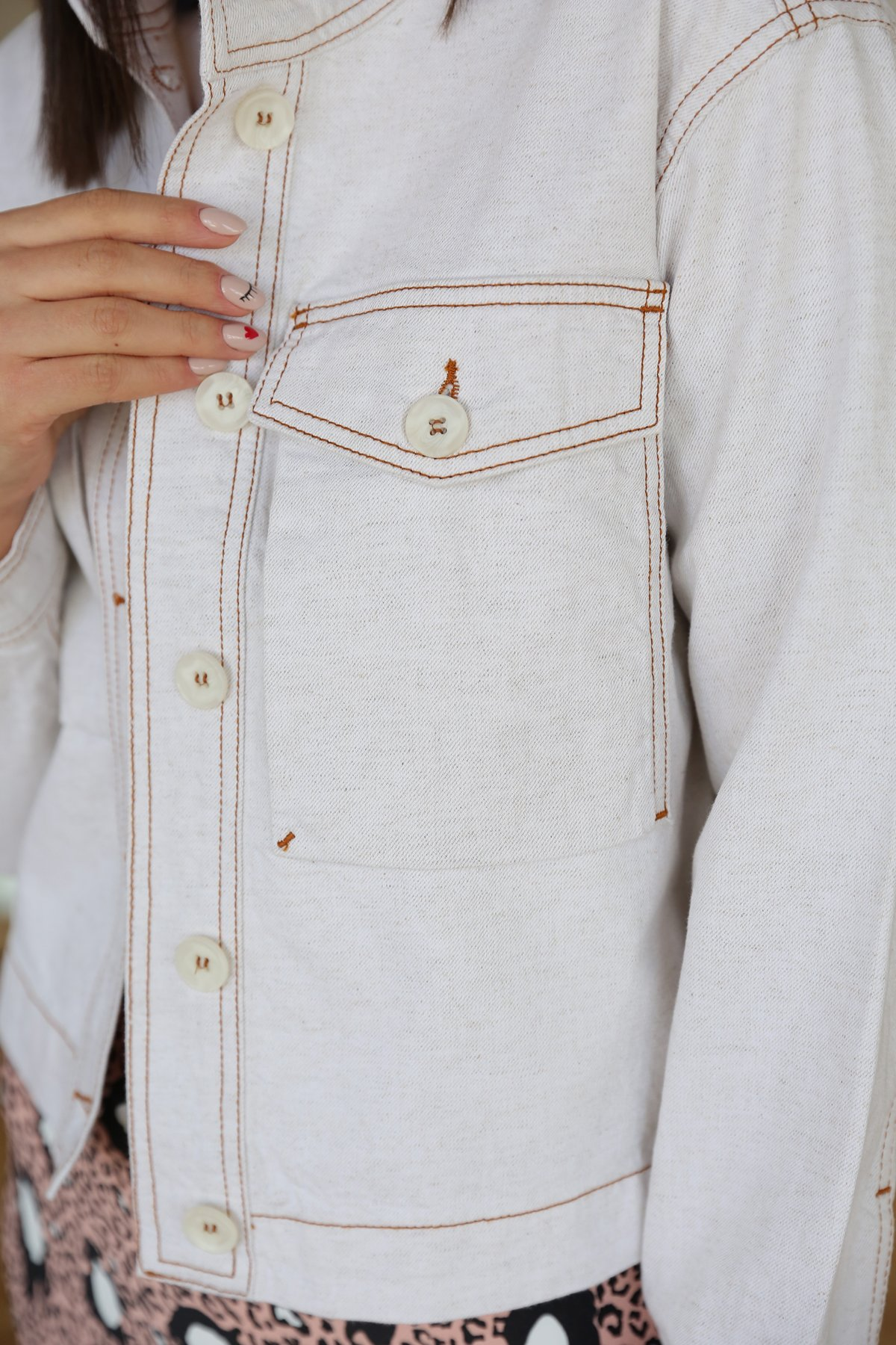 Önden Düğmeli Ceket