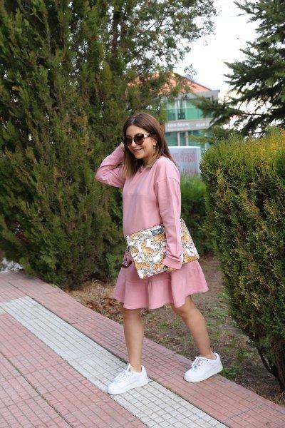 Etek Altı Parçalı Penye Elbise
