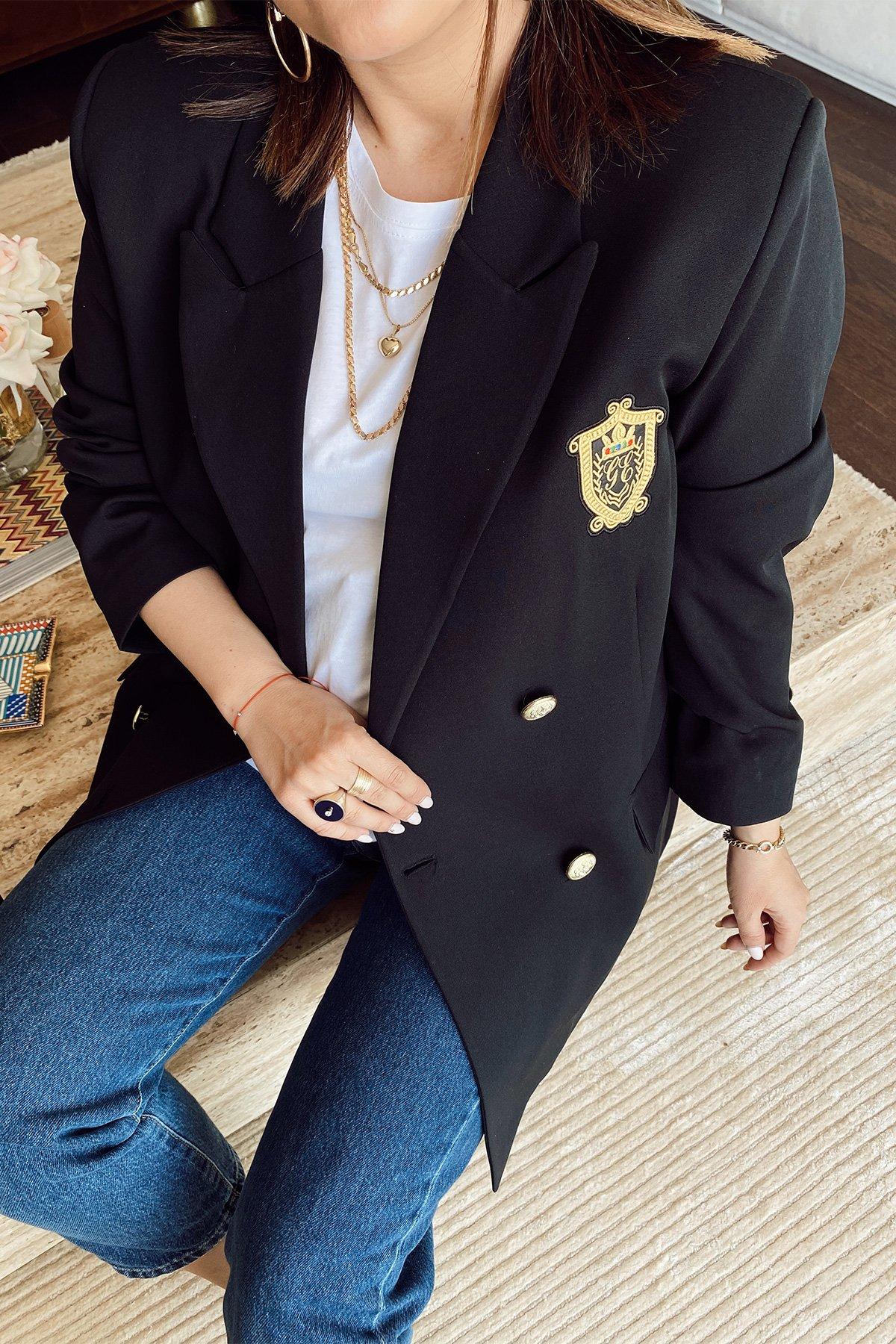 Arma Detaylı Blazer Ceket