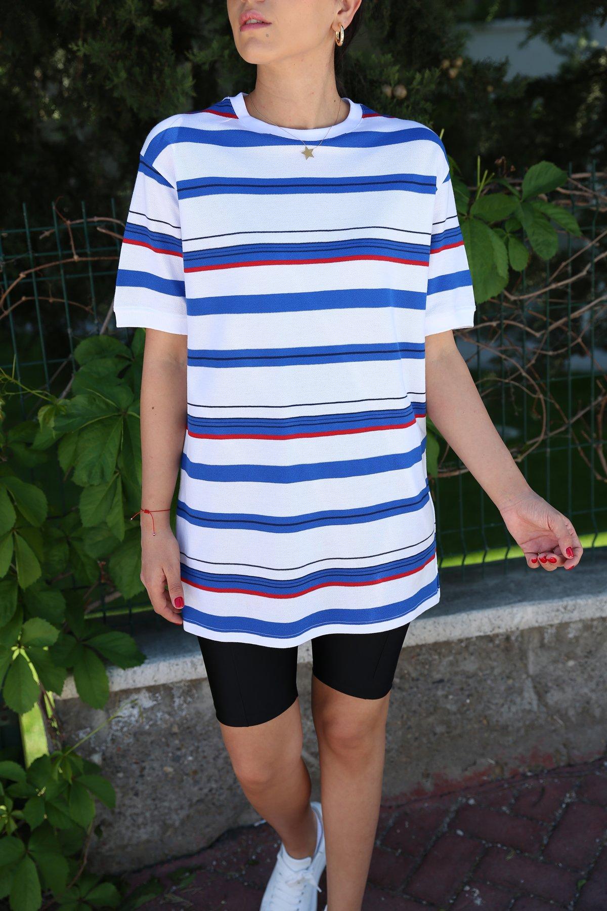 Çizgili Oversize Tshirt