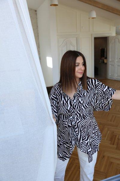 Zebra Desen Bluz