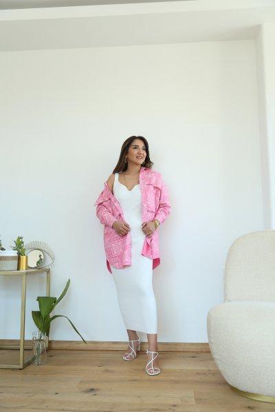 Kalp Yaka Fitilli Triko Elbise