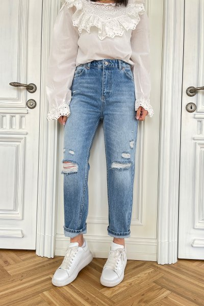 Yırtık Detay Slim Jean