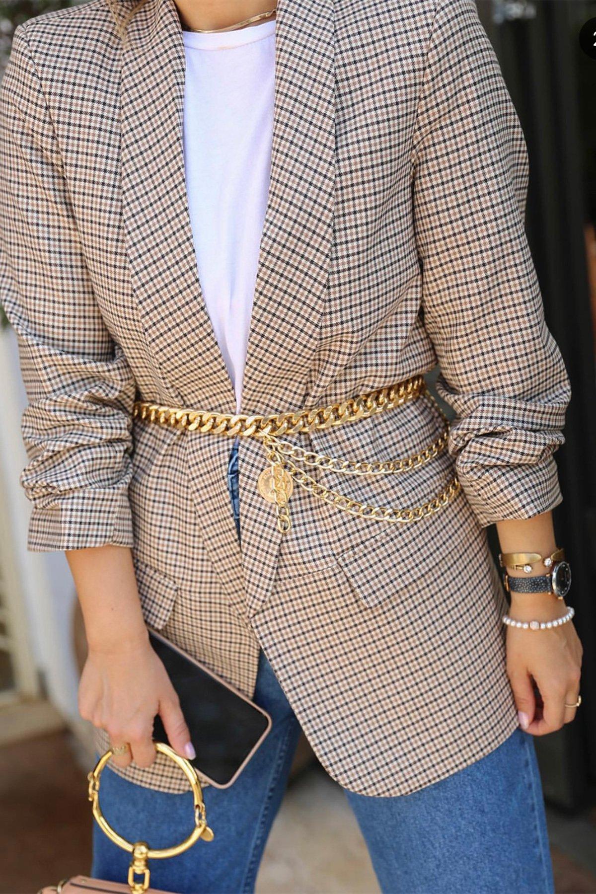 Kol Büzgülü Blazer Ceket