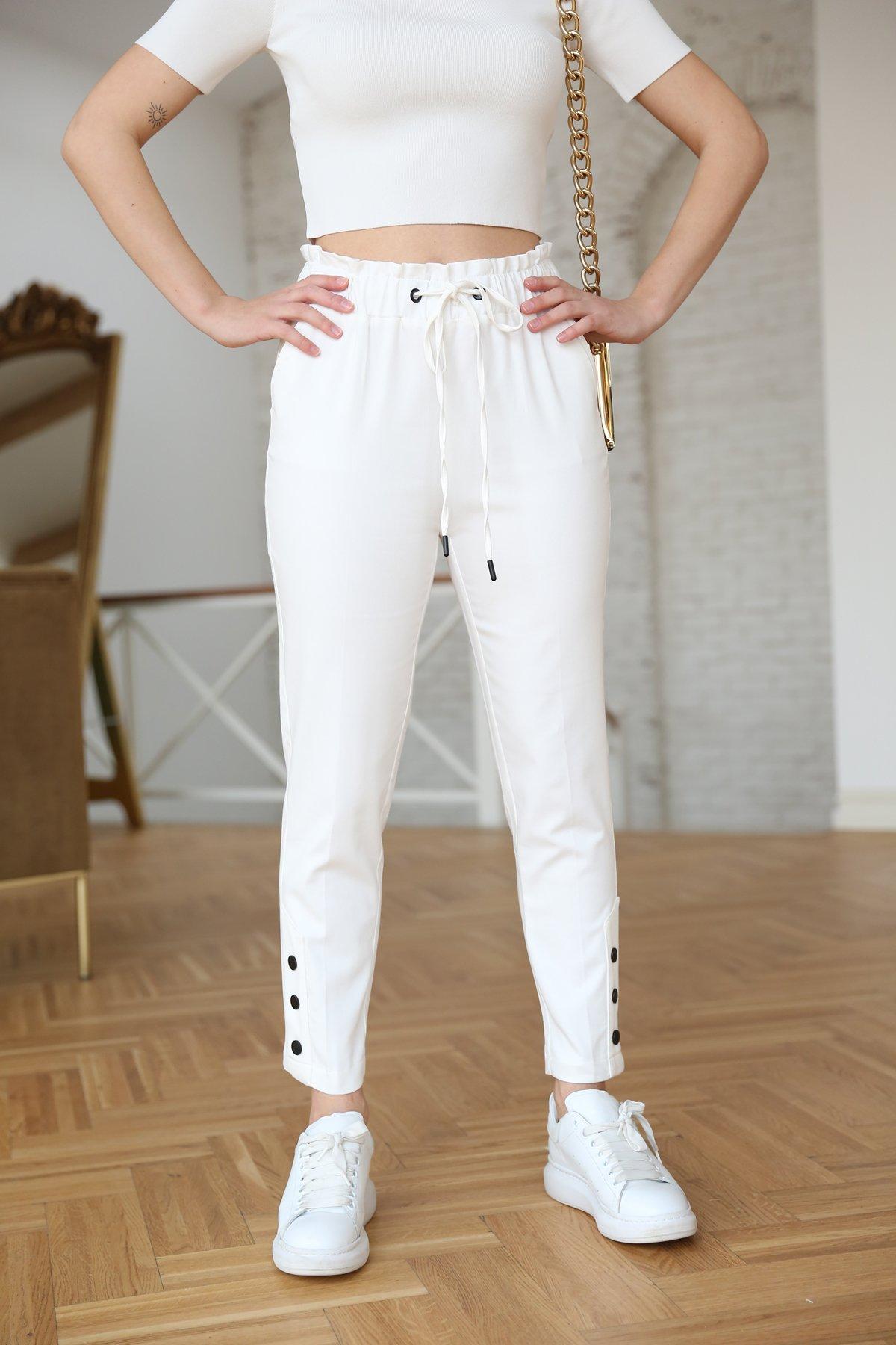 Paça Çıtçıtlı Pantolon