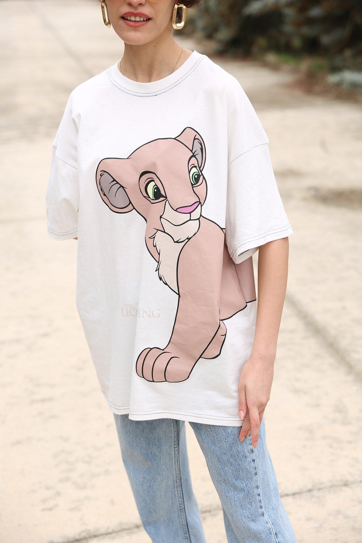 Aslan Kral Baskılı Tshirt