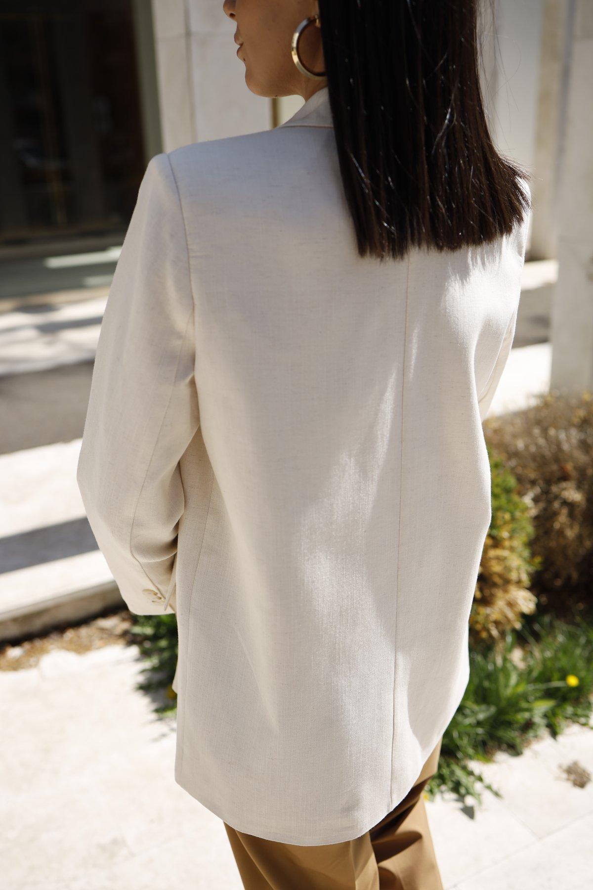 Kruvaze Keten Blazer Ceket