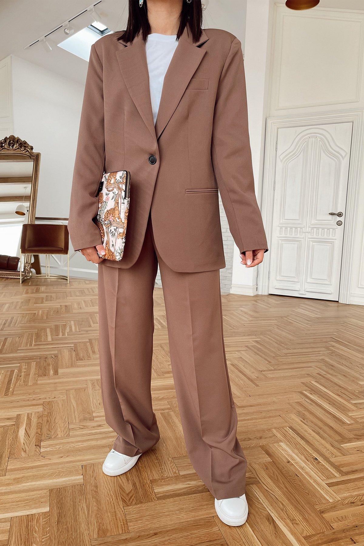 Oversize Tek Düğme Blazer Ceket