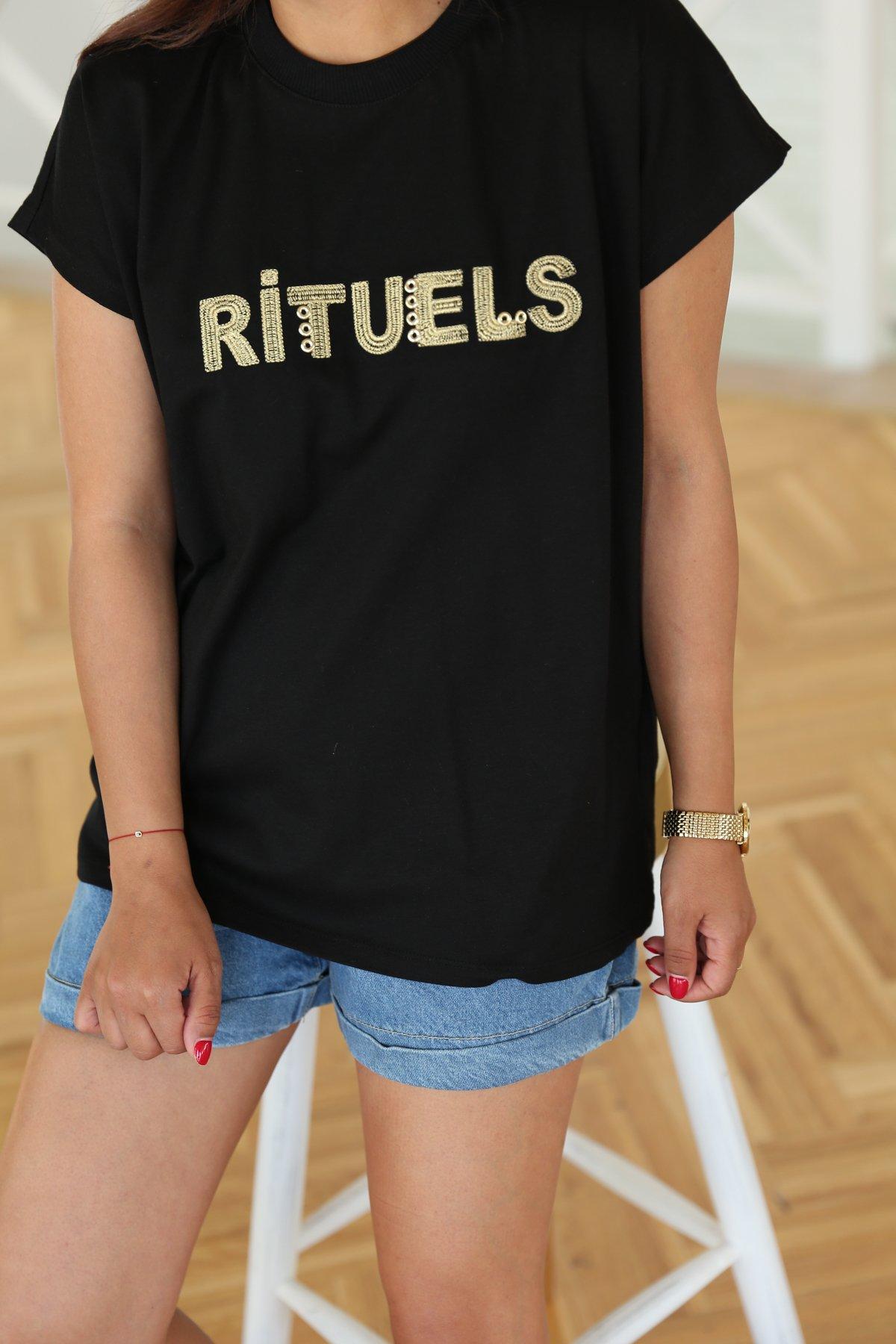 Rituels Baskılı Tshirt